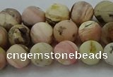 COP1332 15.5 inches 8mm round matte natural pink opal gemstone beads