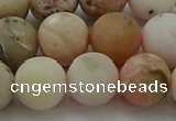 COP1334 15.5 inches 12mm round matte natural pink opal gemstone beads