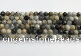 COP1610 15.5 inches 8mm faceted round moss opal beads