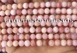 COP1693 15.5 inches 6mm round natural pink opal gemstone beads