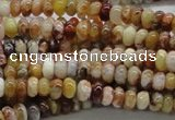 COP302 15.5 inches 3*6mm rondelle brandy opal gemstone beads wholesale