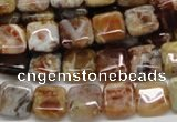 COP304 15.5 inches 10*10mm square brandy opal gemstone beads wholesale