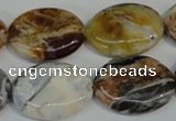 COP318 15.5 inches 18*25mm oval brandy opal gemstone beads wholesale