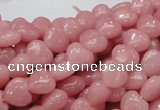 COP412 15.5 inches 8*8mm heart Chinese pink opal gemstone beads