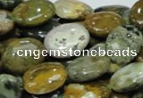COS05 15.5 inches 12*16mm oval ocean stone beads wholesale