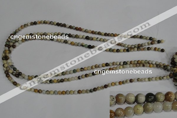 COS160 15.5 inches 4mm round ocean stone beads wholesale