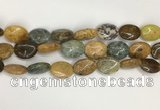COS258 15.5 inches 10*14mm oval ocean stone beads wholesale