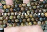 CPB1067 15.5 inches 8mm faceted round natural pietersite beads