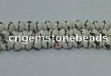 CPB552 15.5 inches 8mm round Painted porcelain beads