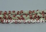 CPB613 15.5 inches 10mm round Painted porcelain beads