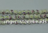 CPB774 15.5 inches 12mm round Painted porcelain beads