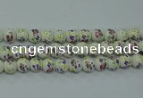 CPB775 15.5 inches 14mm round Painted porcelain beads