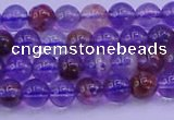 CPC600 15.5 inches 4mm round purple phantom quartz beads