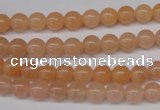 CPE02 15.5 inches 6mm round peach stone beads wholesale