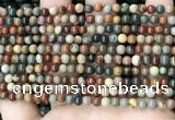 CPJ480 15.5 inches 4mm round polychrome jasper beads wholesale