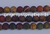 CPJ500 15.5 inches 4mm round matte picasso jasper beads wholeasle