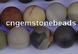 CPJ515 15.5 inches 14mm round matte polychrome jasper beads wholeasle