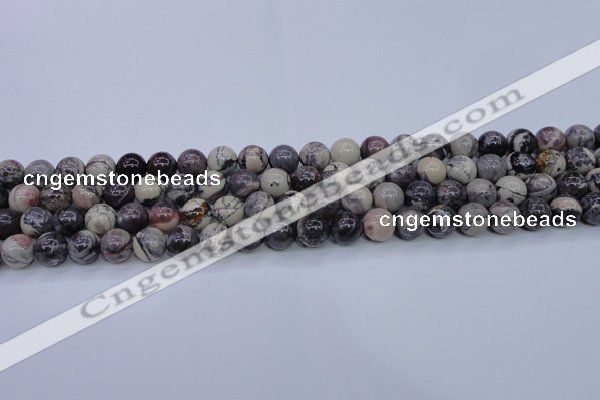CPJ603 15.5 inches 10mm round purple striped jasper beads wholesale