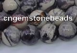 CPJ605 15.5 inches 14mm round purple striped jasper beads wholesale