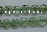 CPR212 15.5 inches 12mm flat round natural prehnite beads wholesale