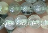 CPR420 15.5 inches 6mm faceted round prehnite beads wholesale