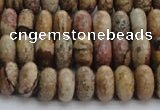 CPT271 15.5 inches 6*10mm rondelle picture jasper beads wholesale