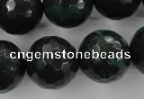 CPT407 15.5 inches 18mm faceted round green picture jasper beads