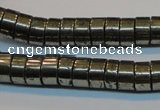 CPY117 15.5 inches 5*10mm heishi pyrite gemstone beads wholesale