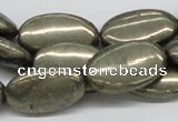 CPY15 16 inches 15*25mm oval pyrite gemstone beads wholesale