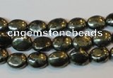 CPY310 15.5 inches 7*9mm oval pyrite gemstone beads wholesale