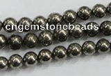CPY48 16 inches 10mm round pyrite gemstone beads wholesale