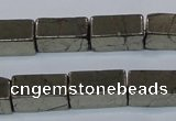 CPY593 15.5 inches 8*16mm cuboid pyrite gemstone beads