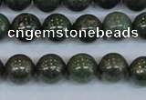 CPY763 15.5 inches 10mm round pyrite gemstone beads wholesale