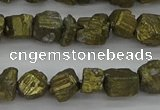 CPY802 15.5 inches 6*10mm - 8*12mm nuggets plated pyrite beads