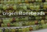 CRB122 15.5 inches 2.5*3.5mm faceted rondelle green garnet beads