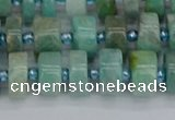 CRB1232 15.5 inches 6*10mm tyre amazonite gemstone beads