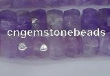 CRB1271 15.5 inches 5*8mm faceted rondelle lavender amethyst beads