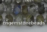 CRB1295 15.5 inches 5*8mm faceted rondelle labradorite beads