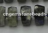 CRB1305 15.5 inches 8*18mm faceted rondelle labradorite beads