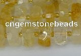CRB1321 15.5 inches 6*10mm faceted rondelle citrine beads