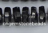 CRB1425 15.5 inches 8*18mm faceted rondelle black tourmaline beads