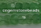 CRB1460 15.5 inches 6*10mm faceted rondelle green fluorite beads