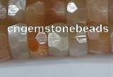 CRB1471 15.5 inches 6*12mm faceted rondelle moonstone beads