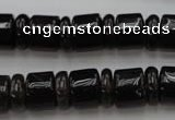 CRB150 15.5 inches 6*12mm & 10*12mm rondelle smoky quartz beads