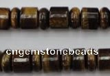 CRB154 15.5 inches 6*12mm & 10*12mm rondelle yellow tiger eye beads
