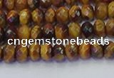 CRB1840 15.5 inches 4*6mm faceted rondelle yellow tiger eye beads