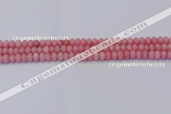 CRB1848 15.5 inches 4*6mm faceted rondelle pink opal beads