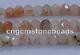 CRB1869 15.5 inches 2*3mm faceted rondelle sunstone beads