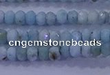 CRB1893 15.5 inches 2*3mm faceted rondelle larimar beads