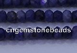 CRB1904 15.5 inches 2.5*4mm faceted rondelle sapphire beads